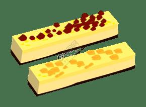 黃色的芝士蛋糕插畫
