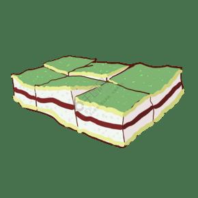 抹茶奶油蛋糕甜點