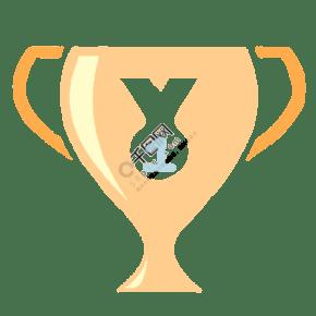 运动员第一名奖杯插画