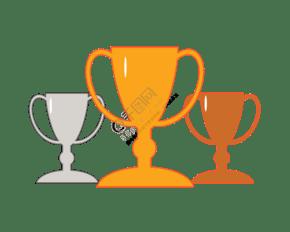 体育比赛奖杯插画
