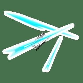 卡通藍色劍氣插圖