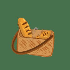 黄色的面包免抠图