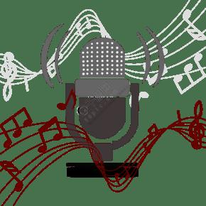 音樂音符裝飾話筒
