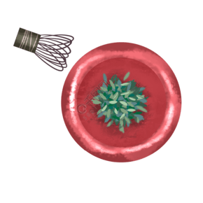 绿色的茶叶装饰插画
