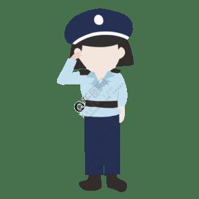 漂亮的警察裝飾插畫