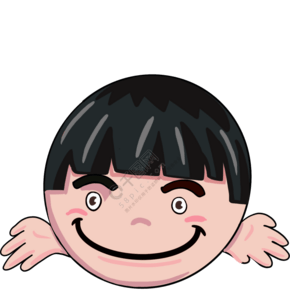 圆形卡通笑脸插画