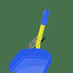藍色的塑料清掃工具