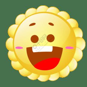 可爱的笑脸表情插画