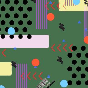 長方形孟菲斯插圖