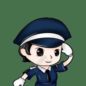 警察職業卡通插畫