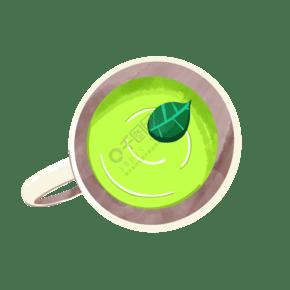 美味的花茶茶汤插画
