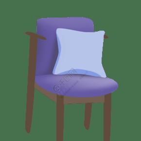 蓝色的家具椅子插画