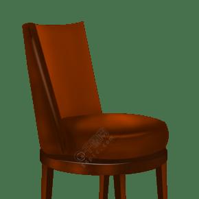 褐色的家具椅子插画