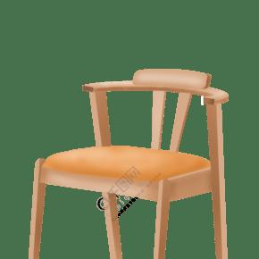 棕色的椅子家具 插画