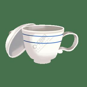精美的茶杯茶插画
