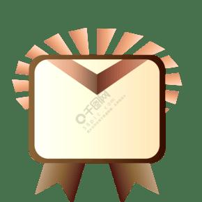 创意荣誉徽章插画