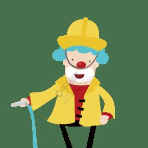 愚人节黄色帽子小丑插画