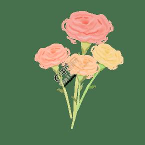 一束康乃馨橙色花