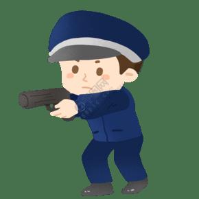 拿著槍的警察免摳PNG素材