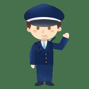 人民警察公安打招呼免摳PNG素材
