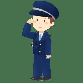 人民警察敬禮免摳PNG素材