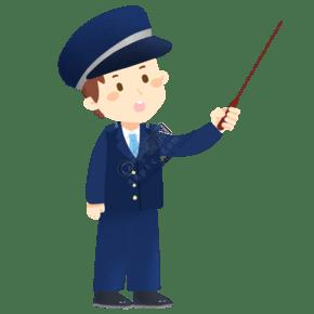 正在上課的警察免摳PNG素材