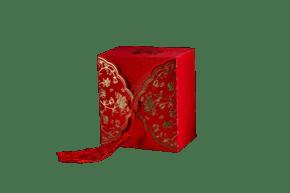 喜气的红色礼盒png素材