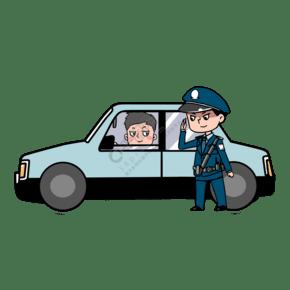 查車時敬禮打招呼的警察