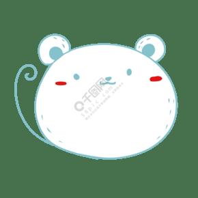 藍色可愛小老鼠形狀氣泡