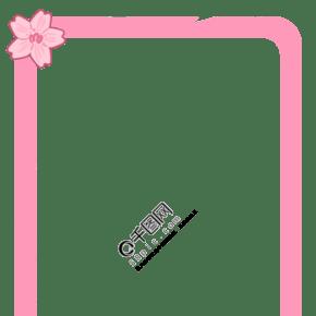 粉色樱花装饰边框
