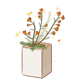 母親節卡通黃色康乃馨插畫