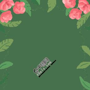 鮮花植物裝飾邊框