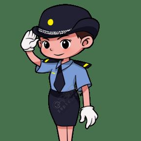 女性警察 敬禮 手勢