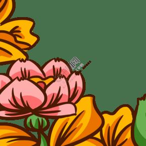 卡通美丽鲜花装饰下载