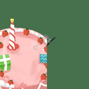 新鮮的生日蛋糕免摳圖