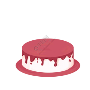 紅色的巧克力蛋糕免摳圖