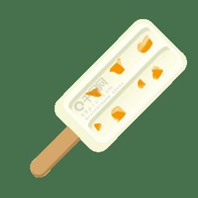 夏季白色水果冰棍