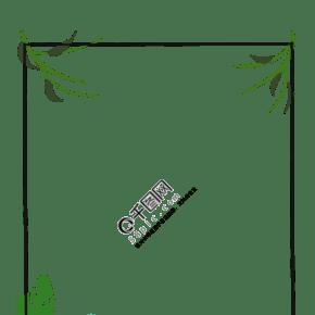 绿色的植物花边边框