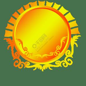 奖杯徽章装饰插画