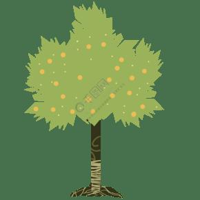 爱心大树装饰插画
