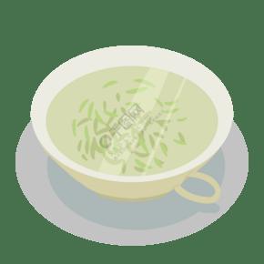泡好的茶叶装饰插画