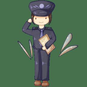 敬禮的女警察
