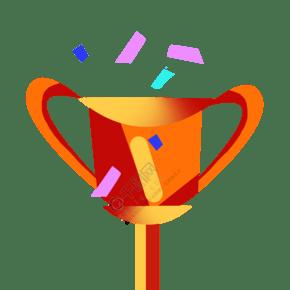 立体奖杯图案插图