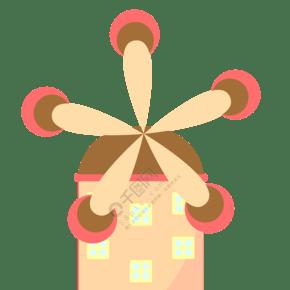 粉色的风车插画