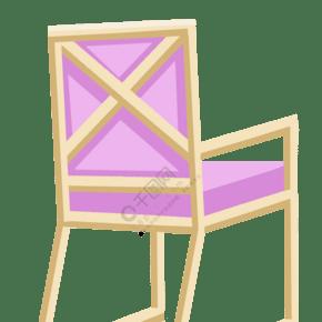 紫色木質椅子插圖