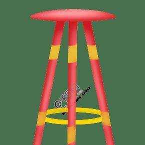 简约红色椅子插图