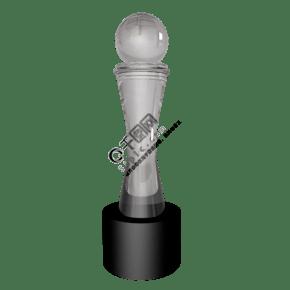 比赛c4d水晶奖杯插图