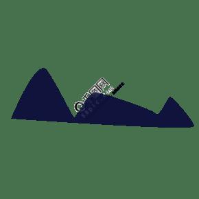 連綿起伏的山