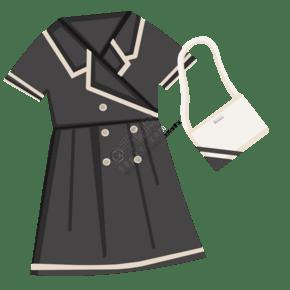 女士黑色衣服插画