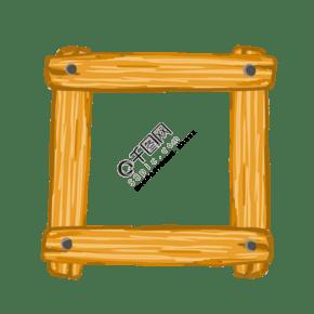 木質木頭架子插畫